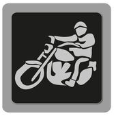Icon biker — Stock Photo