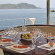 Dinner table on yacht — Stock Photo #11449929