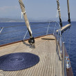 Deck of sailboat — Stock Photo #11450237