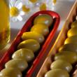 Olives and olive oil — Stock Photo #11457082