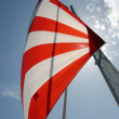 Red and white sail — Stock Photo #11459893