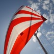 Red and white sail — Stock Photo