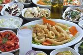 Fried calamary — Stock Photo