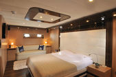 Chic bedroomof yacht — Stock Photo
