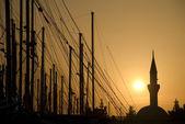 Cami ve Yelken direği — Stok fotoğraf
