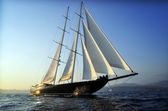 Luxury big sailboat — Stock Photo