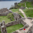 Urquhart Castle ruins - Stock Photo