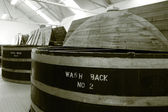 Whisky distillery wash backs — Stock Photo