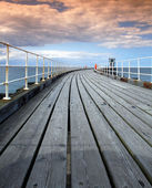 Whitby Pier — Stock Photo