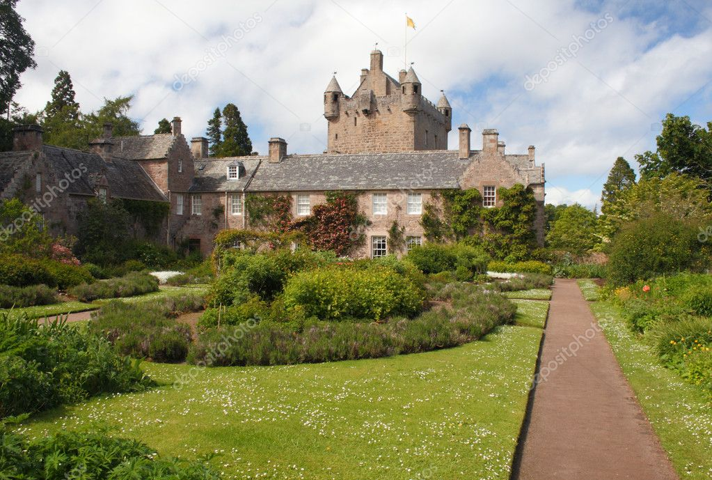 Cawdor Castle and gardens near Inverness, Scotland.   Stock Photo #11462127