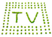 Eco television — Stock Photo