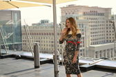 Actress Sarah Jessica Parker poses during a photocall in Moscow — Stock Photo
