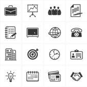значки бизнес и управление — Cтоковый вектор