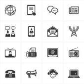 ícones de uma comunicação — Vetorial Stock