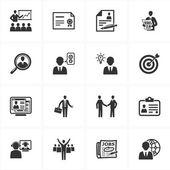 занятости и бизнес иконы — Cтоковый вектор