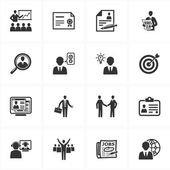 Employment and Business Icons — Vector de stock