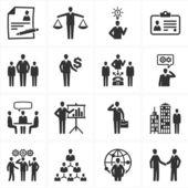 Iconos de recursos humanos y gestión — Vector de stock