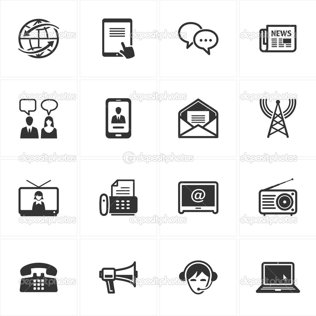 communication icons stock vector copy introwiz  set of 16 communication icons great for presentations web design web apps mobile applications or any type of design projects vector by introwiz