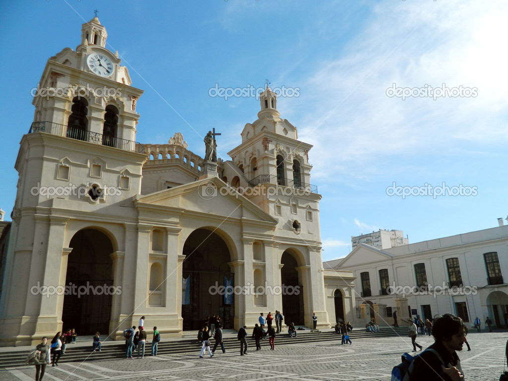View of Catedral church, at Plaza Libertad, Cordoba, Argentina — Stock Photo #11417029