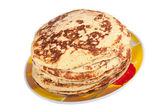 Pancakes on a plate. — Stock Photo