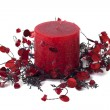 Candle, home decoration — Stock Photo
