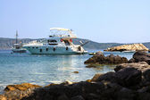 Yatch in Alonissos — Stock Photo