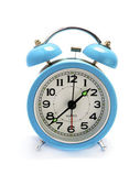 Cyan alarm clock — Stock Photo