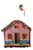 Zaoszczędzić pieniądze na dom — Zdjęcie stockowe