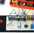Stock Photo: DIY electronics on breadboard