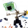 Repairing a pcb board — Stock Photo