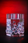 Crystal luxury decorative cube — Stock Photo
