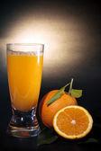 Orange juice art background — Stock Photo