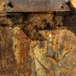 Stock Photo: Texture of oxidized metal plate