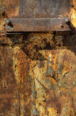 Texture of oxidized metal plate — Stock Photo
