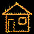 Stockfoto: House on fire