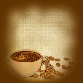 Tazza di caffè sul grunge sfondo — Foto Stock