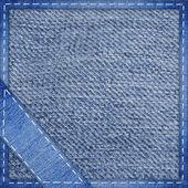 Jeans background with the sewn corner — Stock Photo