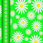 Textile flower background with the sewn tape — Stock Photo