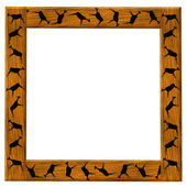 Wooden brown framework — Stock Photo