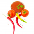 Still-life from a tomato — Stock Photo