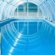 Stock Photo: :Covered summer pool
