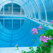 :Covered summer pool - Stock Photo