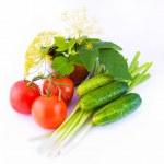 Still-life from a tomato — Stock Photo