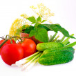 Stockfoto: Still-life from a tomato