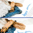 Jeans background — Stock Photo #11434059