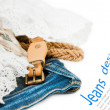 Jeans background — Stock Photo #11434086