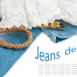Jeans background — Stock Photo #11434231