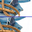Jeans background — Stock Photo #11434752