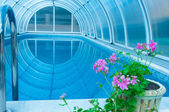 :Covered summer pool — Fotografia Stock