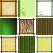 Stock Photo: Set of framework from bamboo
